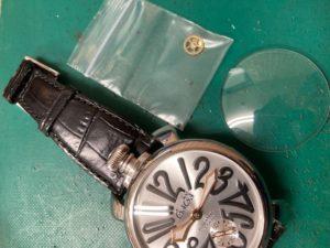 ガガミラノマニュアーレ48 ガラス交換、インデックス修理、パーツ交換、文字盤接着修理しました